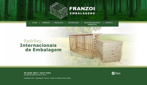 Site da Empresa Embalagens Frazoi