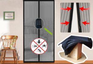 Tela Mosquiteiro Magnética para Portas (Instruções)