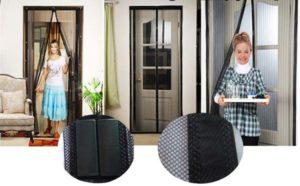 Tela Mosquiteiro Magnética para Portas (funcionamento)