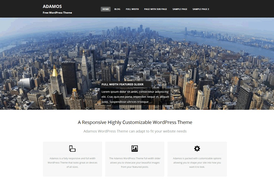 Theme WordPress Adamos