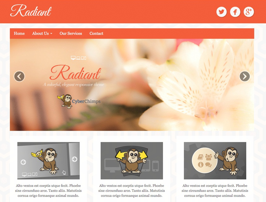 Tema WordPress Radiant