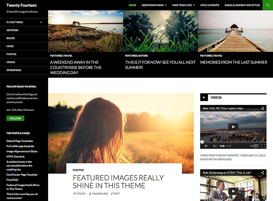 Theme WordPress Twenty Fourteen