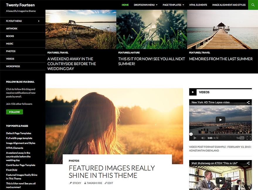 Theme WordPress Twenty Fourteen