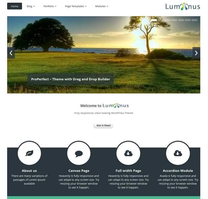 Thema WordPress Luminus